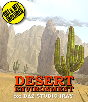 Desert Environment for DS Iray 3D Models powerage