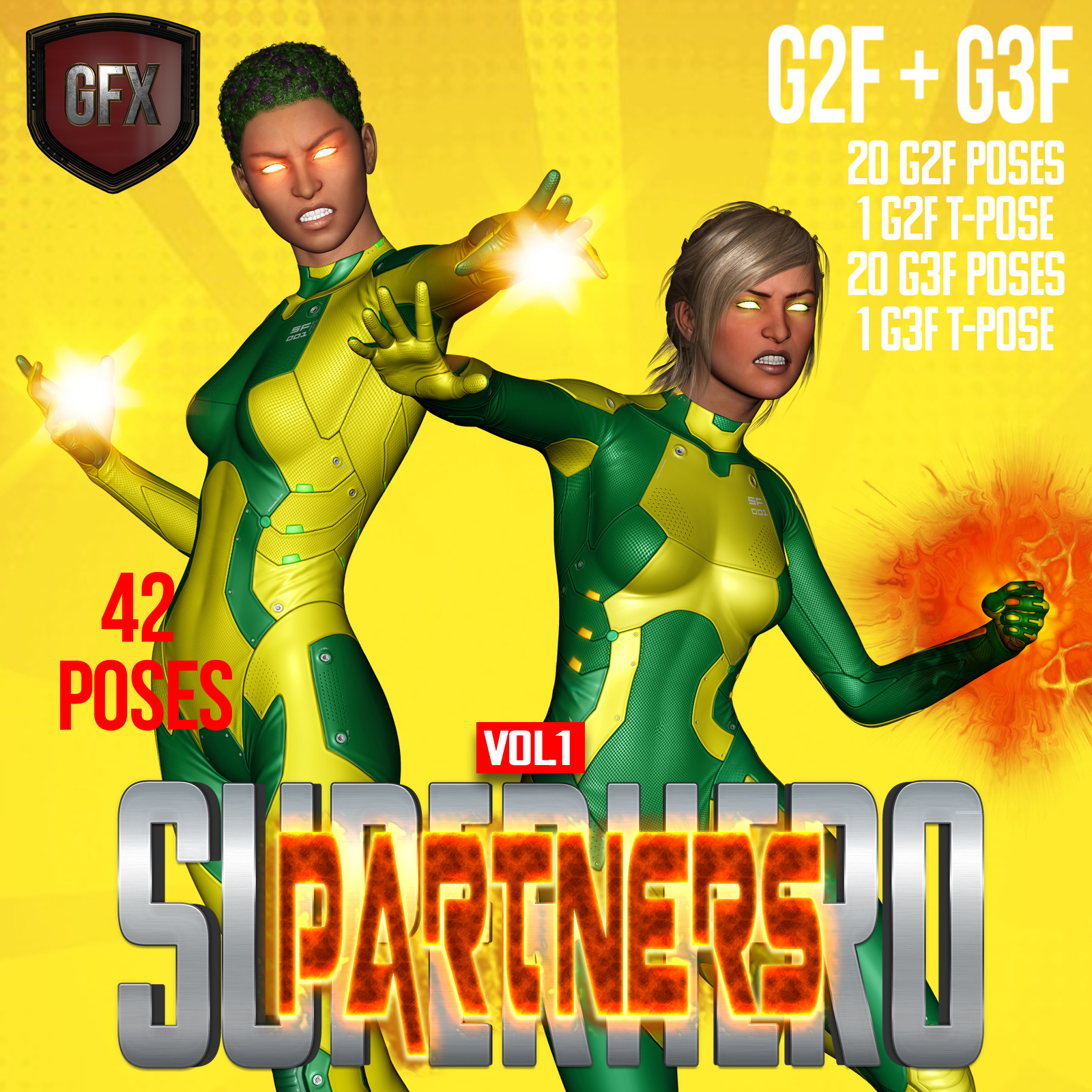 SuperHero Partners for G2F & G3F Volume 1 by GriffinFX