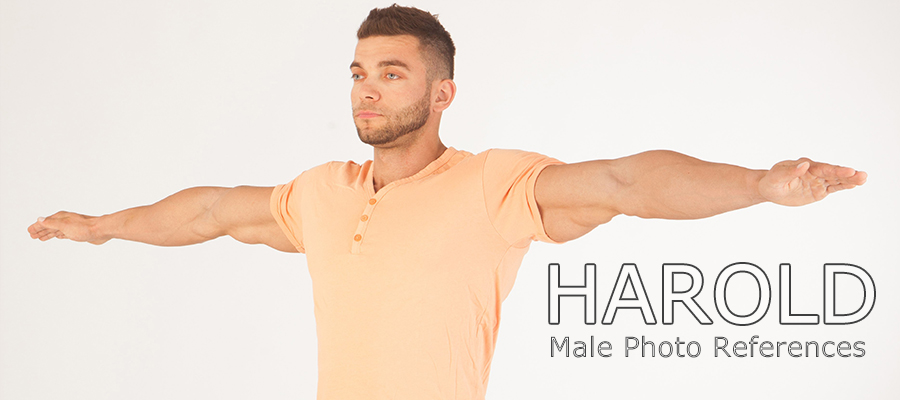 Harold: Nude Male Full Figure Photo References by levius
