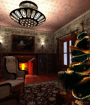 Traditional Christmas Scene 3D Models sixus1