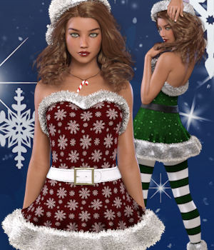 Peppermint for Genesis 3 Females 3D Figure Assets WildDesigns