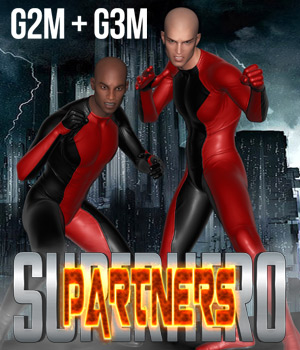 SuperHero Partners for G2M & G3M Volume 1 3D Figure Assets GriffinFX