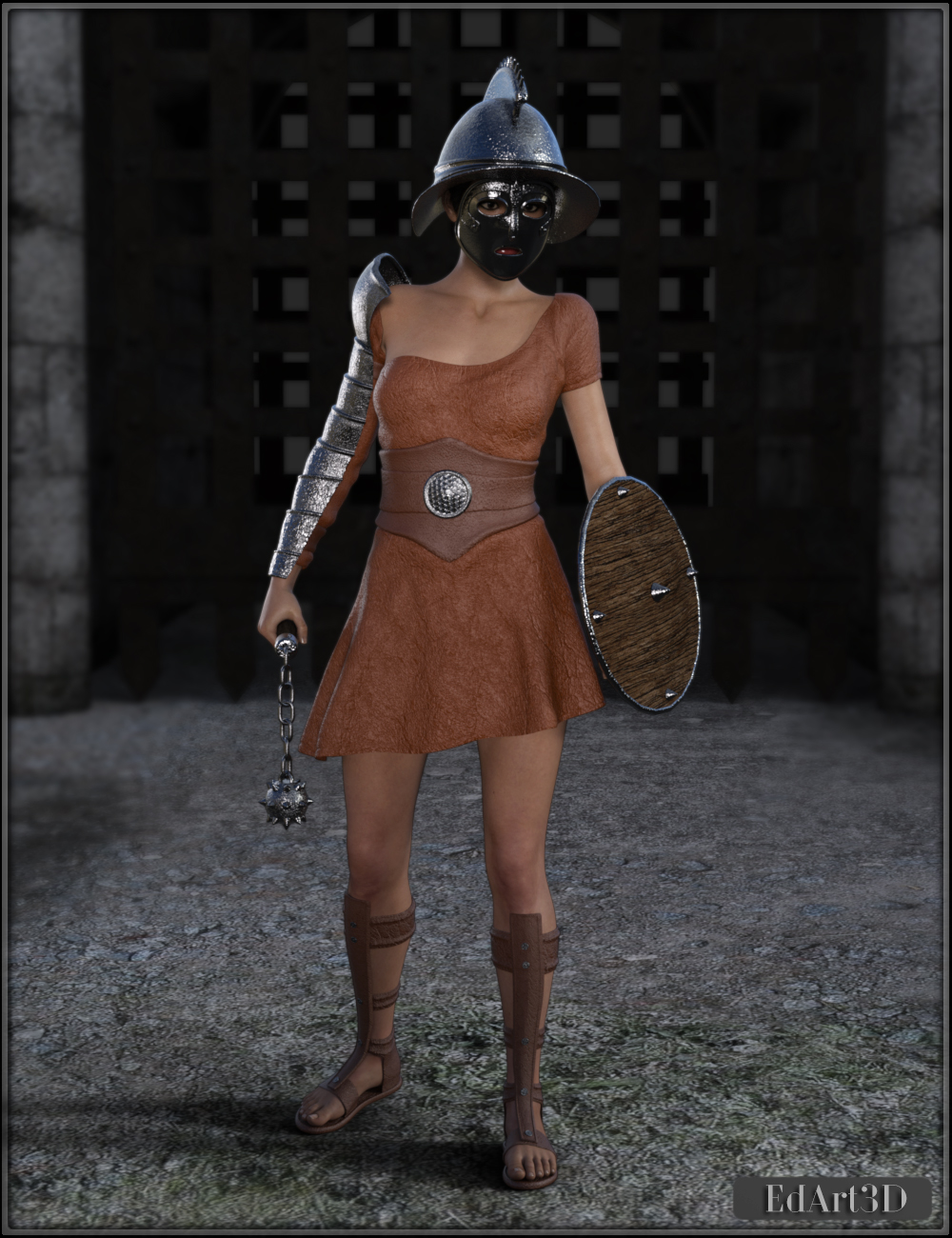 Gladiatrice for G3F by EdArt3D