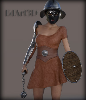 Gladiatrice for G3F 3D Figure Essentials EdArt3D