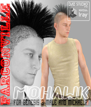 Mohawk for G3M and M7 3D Figure Essentials farconville