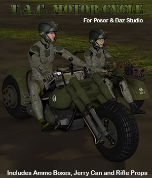 T.A.C. Tactical Advance Combination) Motor Cycle  3D Models Simon-3D