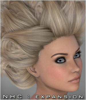 NHC Expansion : Crow Hair 3D Figure Assets P3D-Art