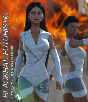 BLACKHAT:FUTURISTIC - Hyper Outfit for Genesis 3 Females 3D Figure Assets Anagord