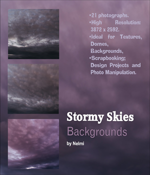 21 Stormy Skies Backgrounds 2D Graphics nelmi