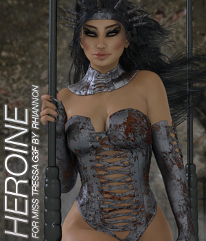 HEROINE - Miss Tressa for Genesis 3 3D Figure Essentials Anagord