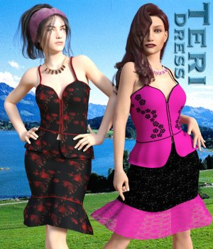 Teri Dress for Genesis3Female 3D Figure Essentials chasmata