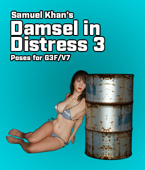 Samuel Khan's Damsel in Distress Poses 3 For G3F/V7 3D Figure Essentials SamuelKhan