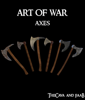 Art of War - Axes  3D Models TheCava