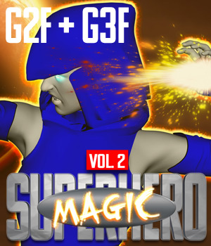 SuperHero Magic for G2F & G3F Volume 2 3D Figure Assets GriffinFX
