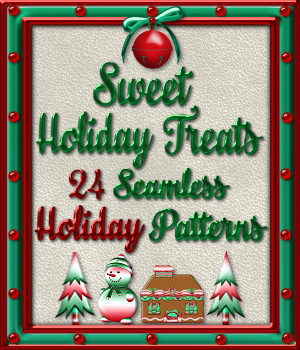 Sweet Holiday Treats Seamless Patterns 2D Graphics Merchant Resources fractalartist01