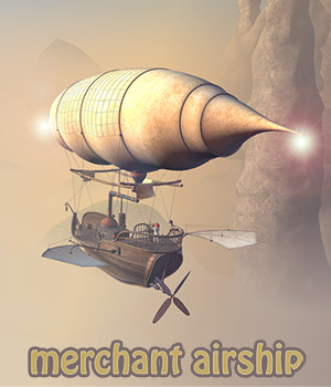 Merchant airship 3D Models 1971s