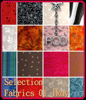 Selection Fabrics 01 IRay 2D Graphics Merchant Resources ArtOfDreams