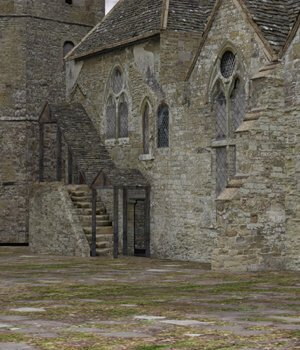 Fortified Manor for DAZ Studio 3D Models VanishingPoint