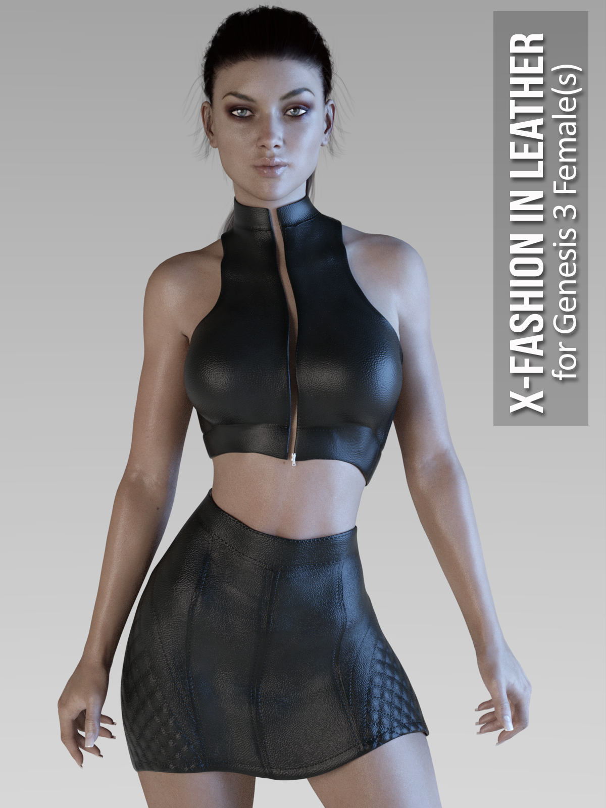 X-Fashion in Leather for Genesis 3 Females by xtrart-3d