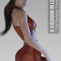 X-Fashion in Leather for Genesis 3 Females image 1