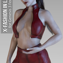 X-Fashion in Leather for Genesis 3 Females image 2