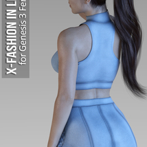 X-Fashion in Leather for Genesis 3 Females image 3