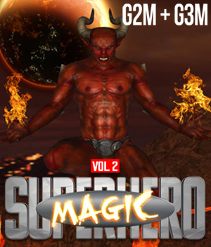 SuperHero Magic for G2M & G3M Volume 2 3D Figure Assets GriffinFX