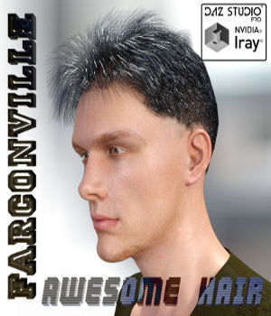 AWESOME HAIR FOR G3M AND M7 3D Figure Assets farconville