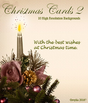 Christmas cards 2 2D ornylia
