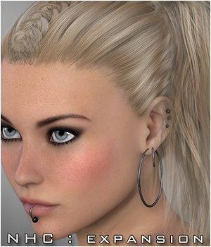 NHC Expansion : Kiva Hair 3D Figure Assets P3D-Art
