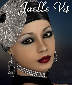 Jaelle for V4 3D Figure Assets chrislenn