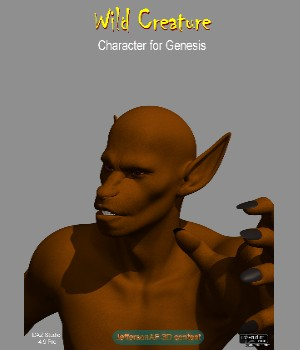 Wild Creature 3D Figure Assets JeffersonAF