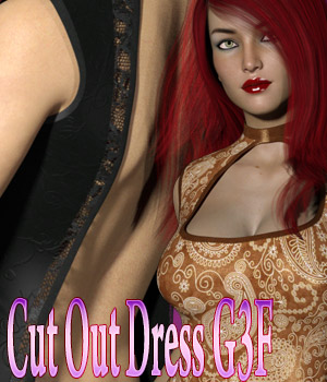 CutOut Dress G3F 3D Figure Essentials kaleya