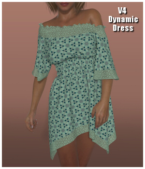Dynamics 11 - Boho Dress for Victoria 4 3D Figure Essentials Lully