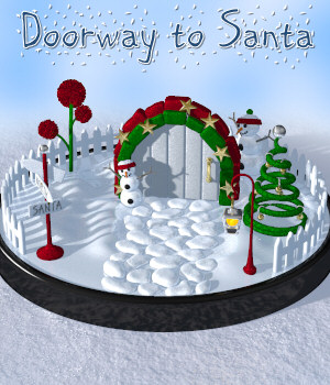Doorway To Santa Propset 3D Models Lully