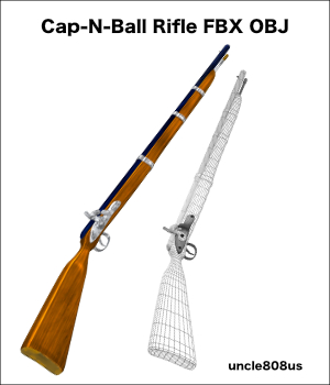 Cap-N-Ball Rifle FBX OBJ