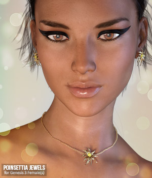 Poinsettia Jewels for Genesis 3 Females 3D Figure Essentials xtrart-3d