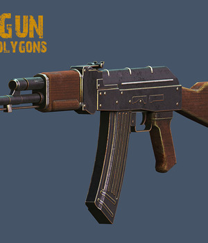 AK Gun 3D Models Extended Licenses 3D Game Models : OBJ : FBX KRBY