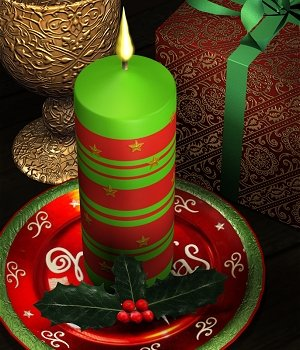 Holly Candle 3D Models MortemVetus