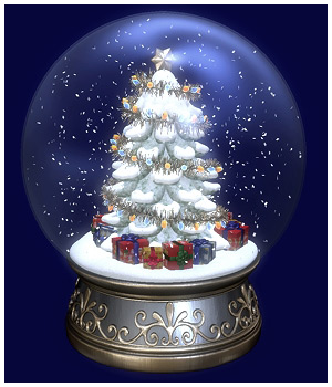 Christmas Snow Globe 3D Models GrayCloudDesign