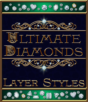 Ultimate Diamonds Layer Styles 2D Merchant Resources fractalartist01