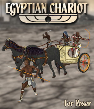 Egyptian Chariot 3D Models Simon-3D