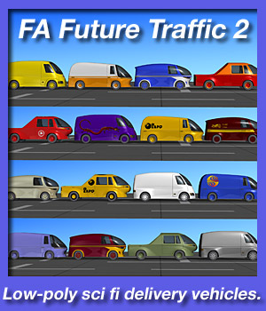 Future Traffic 2: Deliveries. 3D Models fireangel