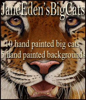 JaneEdens Big Cats 2D Graphics JaneEden
