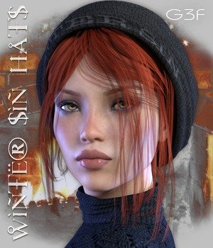 Winter Sin Hats G3F 3D Figure Assets nirvy