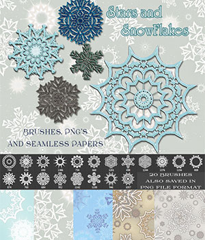 Star and Snowflakes 2D Graphics Merchant Resources antje