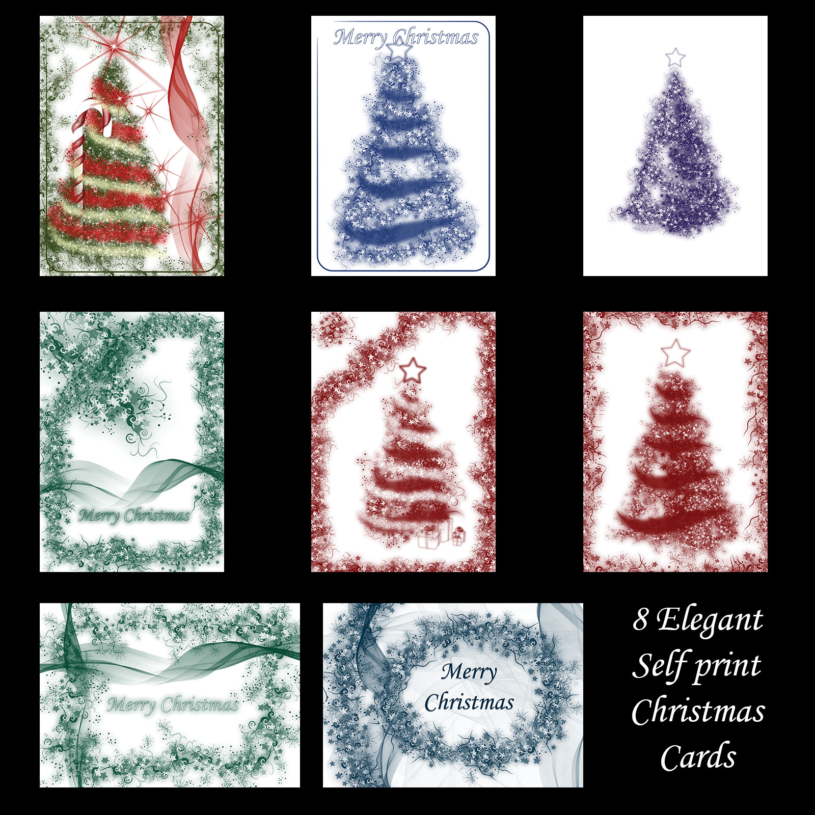 Abstract Christmas Cards