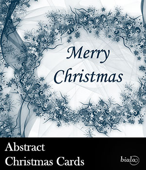 Abstract Christmas Cards 2D biala