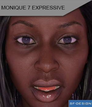Monique 7 Expressive 3D Figure Assets SF-Design
