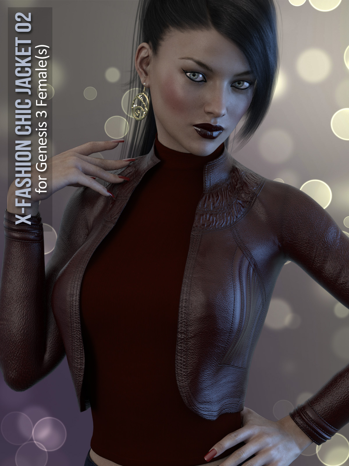 X-Fashion Chic Jacket for Genesis 3 Female(s) 3D Figure Assets xtrart ... b2a731ec6